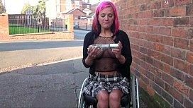 Redhead wheelchair bound babe...