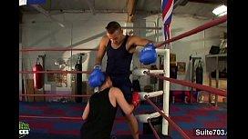 Gay boxing guys having...