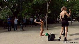 Naked slim brunette fucked...