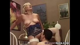 Granny Teacher Flirts With_Her Student xxx