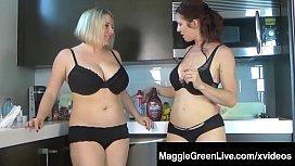 Busty Blonde Maggie Green...