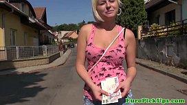 Euro girlnextdoor jizzed on...