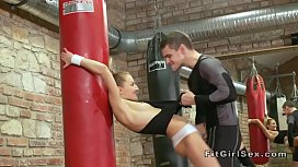 Fitness coach bangs teen...
