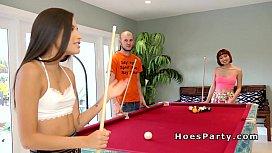 Strip pool party end...
