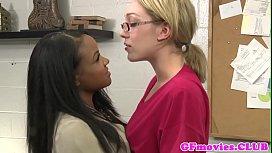 Bigtitted ebony lesbo oral...
