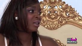 Ebony Teen bitch with...