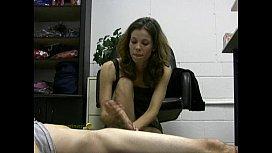Hot lady boss jerks...