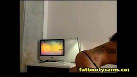 Ebony Babe showing off...
