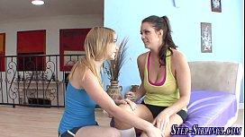 Pussy eating teen stepsis...