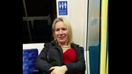 Public flashing hot milf...