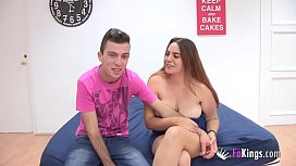 Jesus and Lorena in their very first porn scene wifeysworld interracial