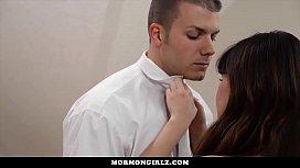 MormonGirlz - Brunette Rides Dick...