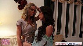 Busty lesbians Capri Cavanni...