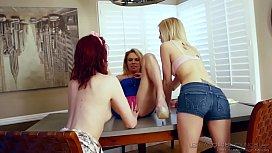 Hot lesbian teens playing...