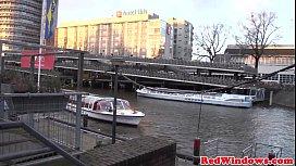 Fat Amsterdam hooker cockriding...
