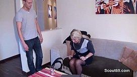 German MILF seduce Young...