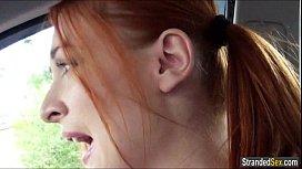 Redhead cheerleader Eva Berger...