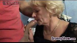 Horny Grandma In Fishnets...