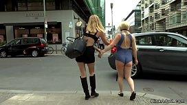 Busty petite blonde gangbang...