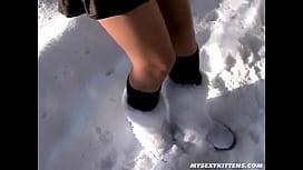 Anastasia Devine in Furry Boots Dild ...