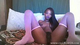Skinny african teen webcam...