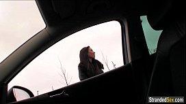 Teen hitchhiker Gina Devine...
