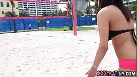 Teen latina rides dick...