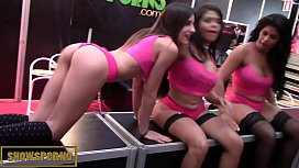 Spanish pornstars licking, blowing...
