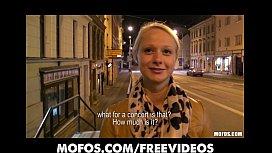 Cute blonde Czech student...