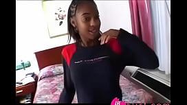 Horny cute black teen...