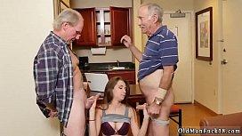 Kinky old threesome and...