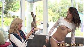 Lesbian amateur licked...