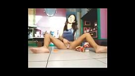 Brazil teen covers herself...
