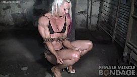 Female Bodybuilders Muscles Strain...