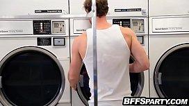 Teens at laundromat suck...