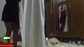 Dressed as a nun...