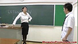Ladyboy teacher assfucking her...