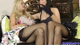 British stockings milf plays...