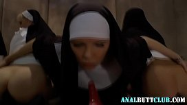 Les nuns toy gaping...