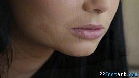 Kinky teen tugs facial...