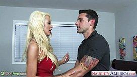 Gorgeous blondes Carmen Caliente and Courtney Taylor fuck porn vu