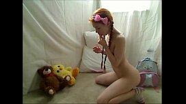 Teen Redhead Hottie Masturbates For Cam at 21ocam