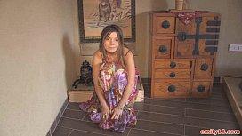 Hippie dress on stripping...