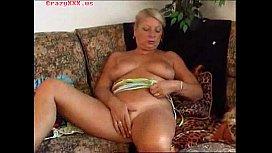 Hot Granny Masturbates...
