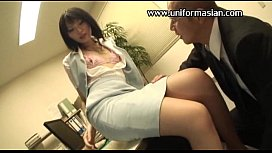 Asian tiny tits office woman in pantyhose sex