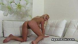 Fake agent shoves dick...
