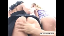 Cumload on face from...