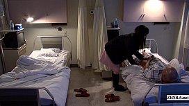 Subtitled uncensored bizarre hospital Japanese handjob porno sexo duro