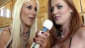 Lesbian babes big dildo...