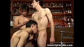 Teen Boys Hookup Threesome...